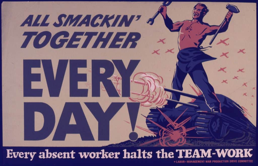 1024px-All_smackin'_together_every_day^_Every_absent_worker_halts_the_team-work._-_NARA_-_534966