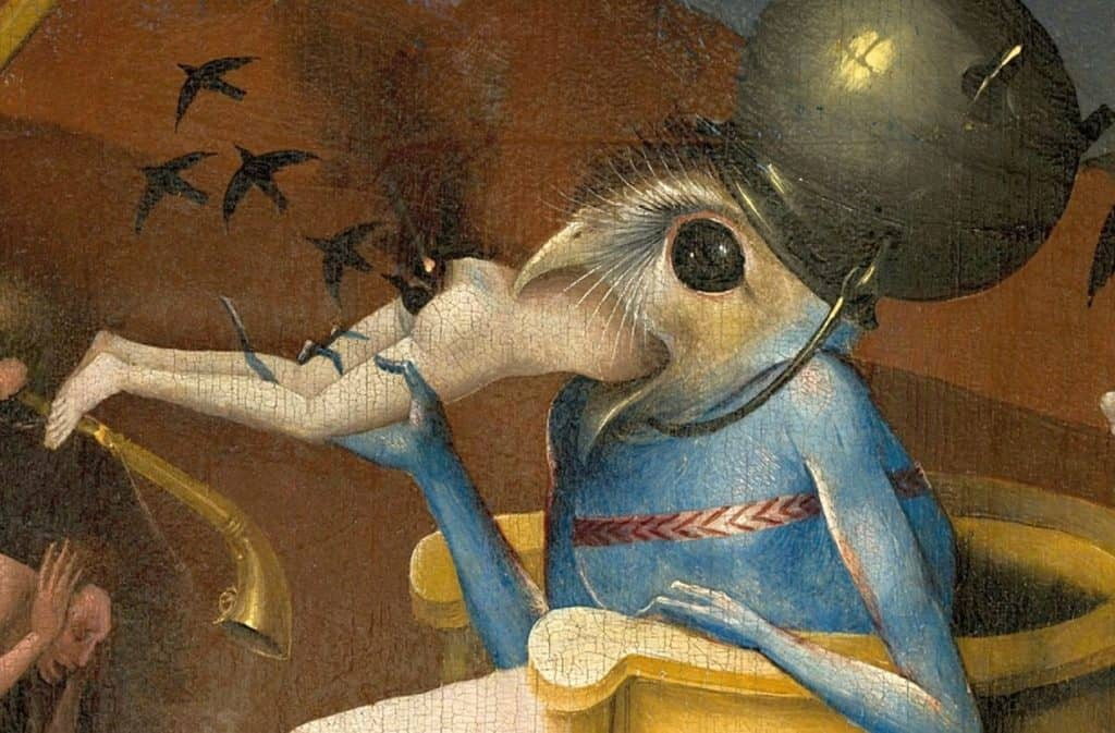 1280px-Bosch_Hieronymus_-_The_Garden_of_Earthly_Delights_right_panel_-_Detail_Bird-headed_monster_or_The_Prince_of_Hell_-_close-up_head_lower_right-e1506524444859