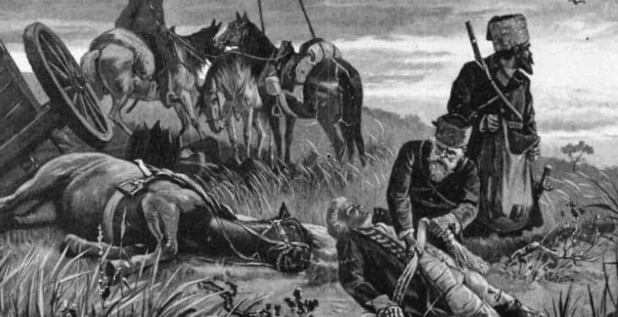 Cossacks_plunder_the_dead_Ewald_von_Kleist