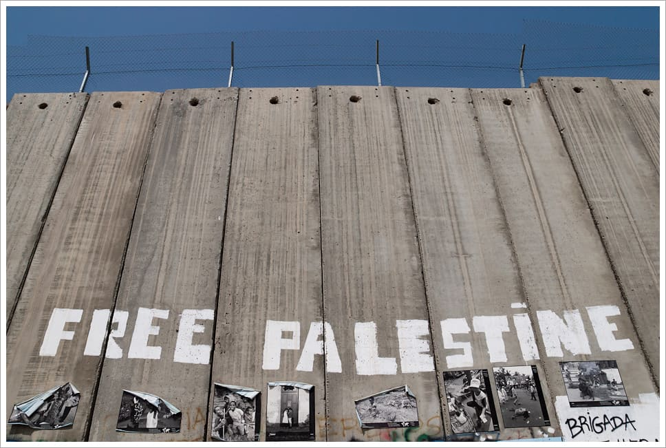 Palestine 2009. Israel's Wall in Bethlehem, West Bank.