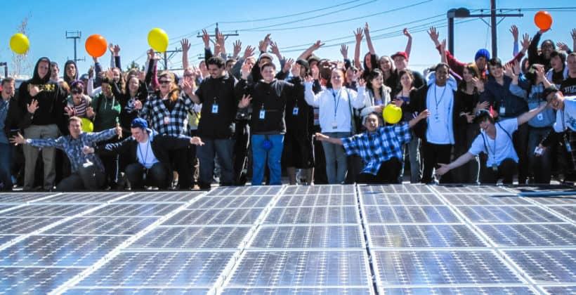 Black Rock Solar, a nonprofit entity, installed a 31 kilowatt photovoltaic array at Rainshadow Community Charter High School in Reno, Nevada.