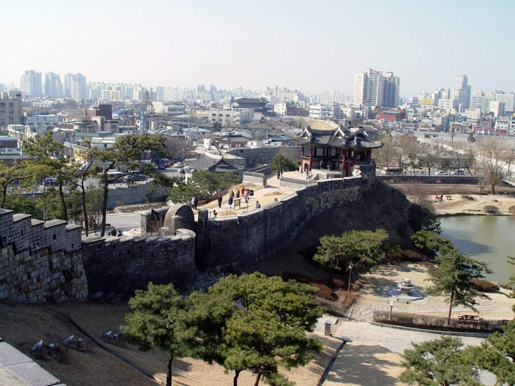 hwaseong-fortress-and-the-skyline-of-suwon-in-south-korea